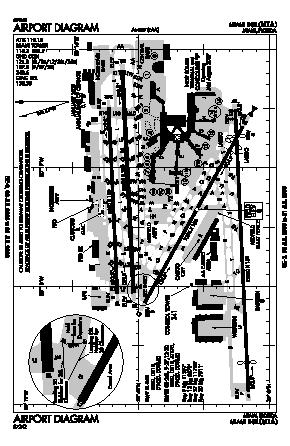 Miami International Airport (MIA) diagram