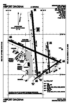 Midland International Airport (MAF) diagram