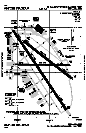 St Paul Downtown Holman Fld Airport (STP) diagram