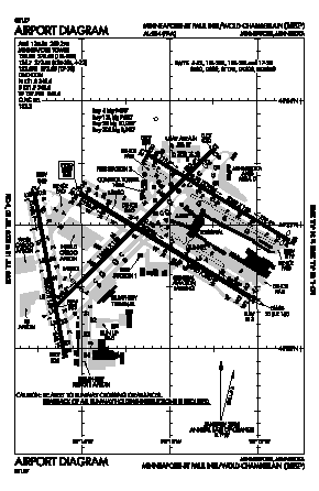 Minneapolis-st Paul Intl/wold-chamberlain Airport (MSP) diagram