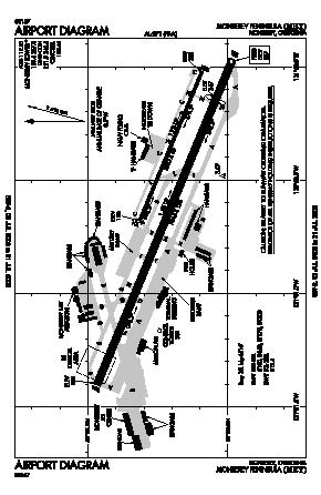 Monterey Regional Airport (MRY) diagram