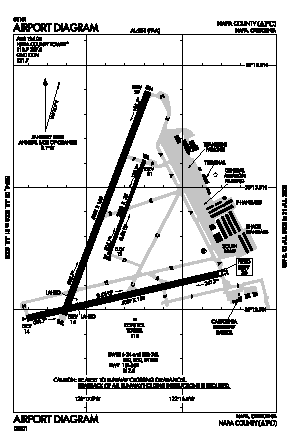 Napa County Airport (APC) diagram