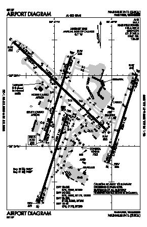 Nashville International Airport (BNA) diagram