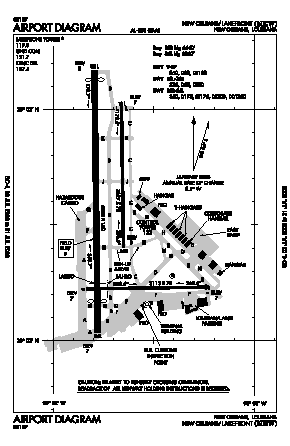 Lakefront Airport (NEW) diagram