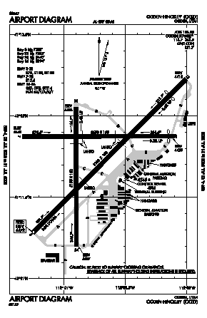 Ogden-hinckley Airport (OGD) diagram