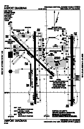will rogers world airport map Will Rogers World Airport Okc Map Aerial Photo Diagram will rogers world airport map