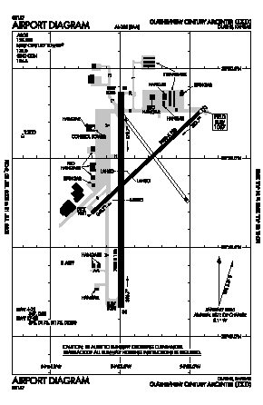 New Century Aircenter Airport (IXD) diagram