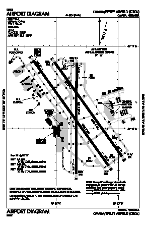 Eppley Airfield Airport (OMA) diagram