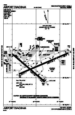 Executive Airport (ORL) diagram