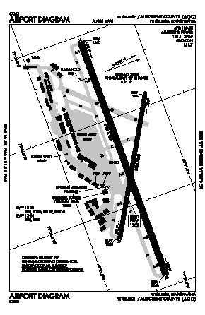 Allegheny County Airport (AGC) diagram