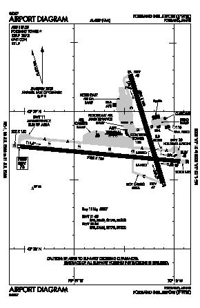Portland International Jetport Airport (PWM) diagram