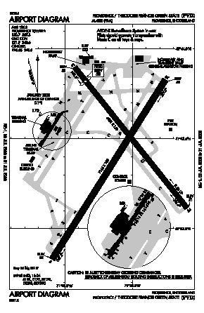 Theodore Francis Green State Airport (PVD) diagram