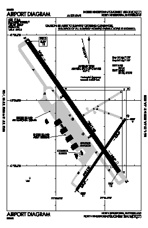 Quonset State Airport (OQU) diagram