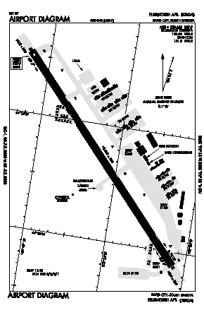 Ellsworth Afb Airport (RCA) diagram