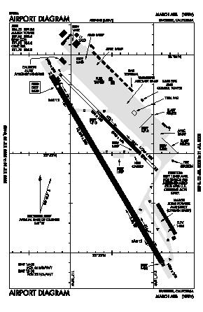 March Arb Airport (RIV) diagram