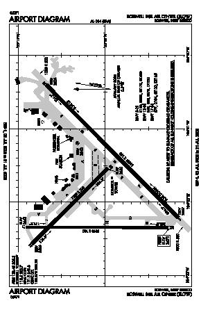 Roswell International Air Center Airport (ROW) diagram