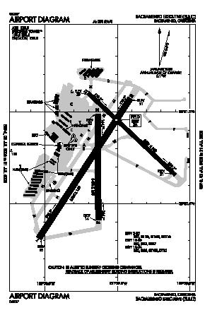Sacramento Executive Airport (SAC) diagram