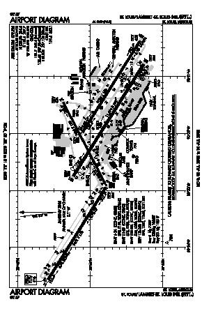 Lambert-st Louis International Airport (STL) diagram