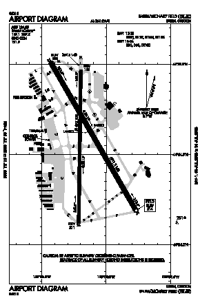 Mcnary Fld Airport (SLE) diagram