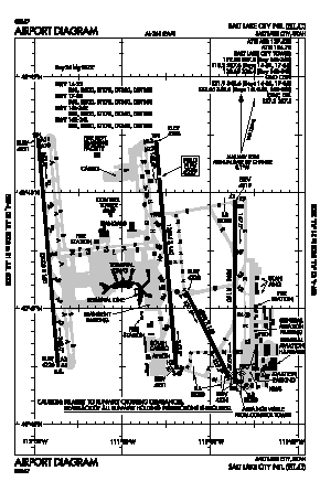 Salt Lake City International Airport (SLC) diagram