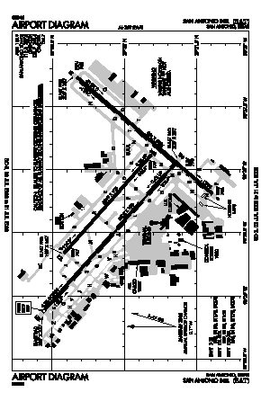 San Antonio International Airport (SAT) diagram
