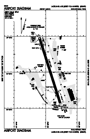 Lackland Afb (kelly Fld Annex) Airport (SKF) diagram