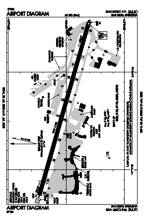 San Diego International Airport (SAN) diagram
