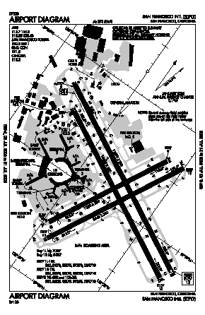 San Francisco International Airport (SFO) diagram