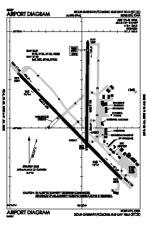 Sioux Gateway/col. Bud Day Field Airport (SUX) diagram
