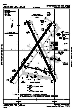 Joe Foss Field Airport (FSD) diagram