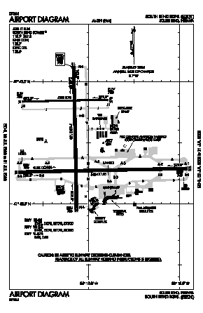 South Bend Airport (SBN) diagram