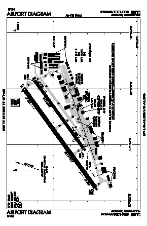 Felts Field Airport (SFF) diagram