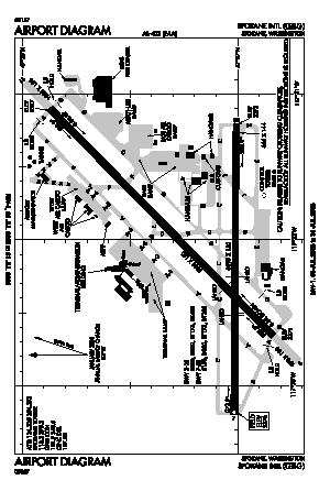 Spokane International Airport (GEG) diagram