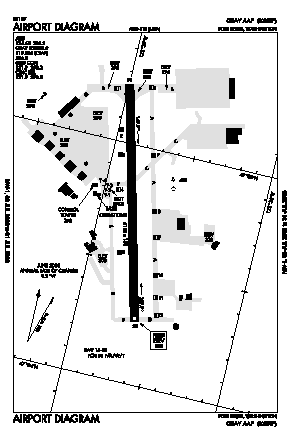 Gray Aaf (joint Base Lewis-mcchord) Airport (GRF) diagram