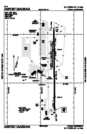 Mcchord Field (joint Base Lewis-mcchord) Airport (TCM) diagram