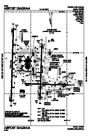 Tampa International Airport (TPA) diagram