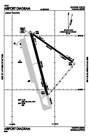 Tonopah Airport (TPH) diagram