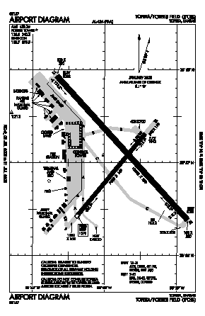 Forbes Field Airport (FOE) diagram