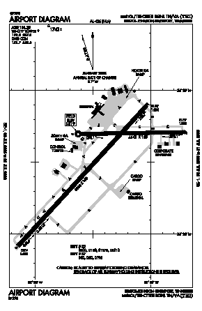 Tri-cities Regional Tn/va Airport (TRI) diagram