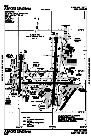 Tulsa International Airport (TUL) diagram