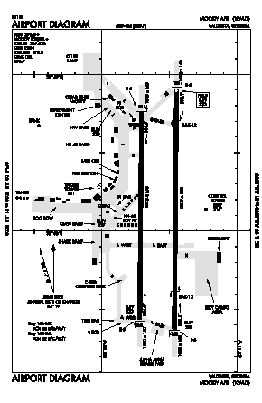 Moody Afb Airport (VAD) diagram