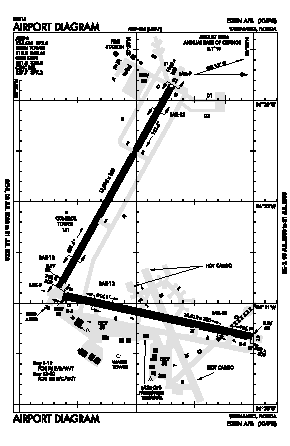 Eglin Afb Airport (VPS) diagram
