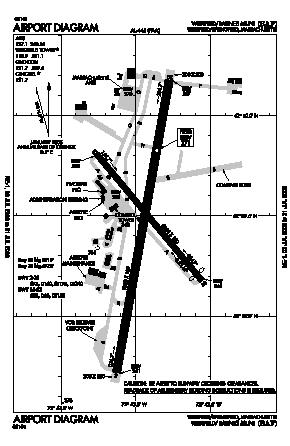 Westfield-barnes Regional Airport (BAF) diagram
