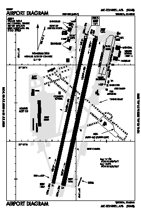 Mc Connell Afb Airport (IAB) diagram
