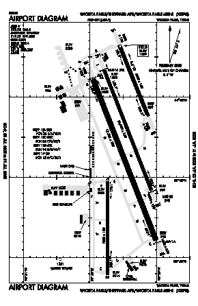 Sheppard Afb/wichita Falls Municipal Airport (SPS) diagram