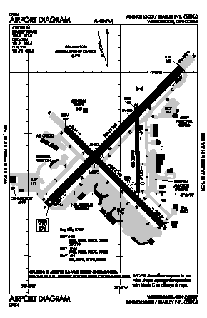 Bradley International Airport (BDL) diagram
