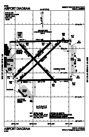 Willow Run Airport (YIP) diagram