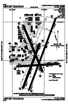 Dekalb-peachtree Airport (PDK) diagram