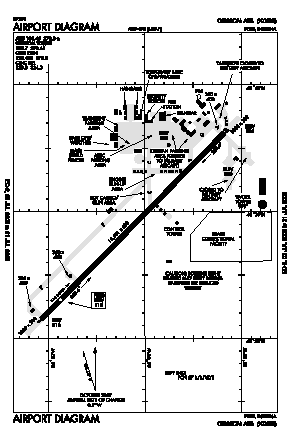 Grissom Arb Airport (GUS) diagram