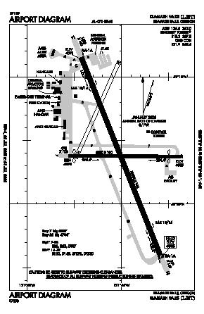 Klamath Falls Airport (LMT) diagram